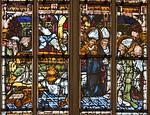 Erfurt, Dom, Bonifatiusfenster, Szene aus dem Leben (1410)