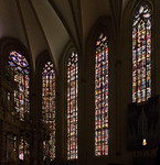 Erfurt, Dom, Chorfenster im Süden: Genesis-,  Abraham-, Jakob-, Joseffenster (1380), Tiefengrubenfenster (1410)