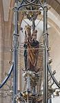Erfurt, Severikirche, Strahlenkranzmadonna im  Taufgehäuse (1467)