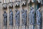 Erfurt, Dom, Westportal des Triangel, 5 törichte Jungfrauen und Synagoge