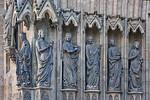 Erfurt, Dom, Westportal des Triangel, Ecclesia und 5 kluge Jungfrauen
