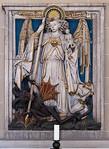 Erfurt, Severikirche, Alabasterrelief mit Erzengel Michael (1467)