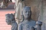 Erfurt, Dom, Westportal des Triangel, Ecclesia und 1 kluge Jungfrau