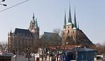 Erfurt, Blick auf Dom und Severikirche von Nordosten