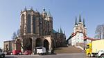 Erfurt, Dom und Severikirche von Osten