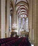 Mühlhausen, Marienkirche, Blick durch Längsschiff auf Chor