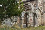 Thalbürgel, ehem. Klosterkirche: Blick auf Ruine der westl. Vorhalle von Süden