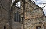 Thalbürgel, ehem. Klosterkirche: Blick auf südl. Vierungsbogen und vermauerten Triumphbogen