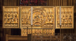 Minden, Dom, Kopie der Goldenen Tafel, Original von 1220 (Predella) und 1425 (Retabel) im Bode-Museum Berlin