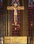 Minden, Dom, Mindener Kruzifix über Goldener Tafel (Kopien)