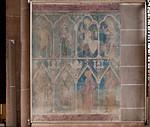 Minden, Dom, Wandmalerei am südwestl. Vierungspfeiler, um 1290