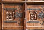 Münster, Rathaus, Friedenssaal, Schrankwand, Detail