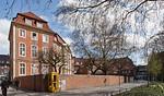 Münster, Erbdrostenhof, Seitenansicht von Südwesten