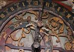 Münster, Dom, astronomische Uhr, Ziffernblatt oben