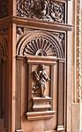 Münster, Rathaus, Friedenssaal, Geometrie an Fensterwandnische