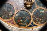 Münster, Dom, Monatsbilder April, Mai, Juni (Ludger tom Ring d.Ä.) - Erdreich bricht auf, Liebe, Schafschur