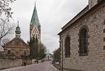 Paderborn, Dom von der Abdinghofkirche gesehen