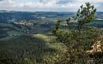 Blick vom Lilienstein nach Westen Richtung Bastei (Sächsische Schweiz)