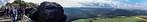 Panorama vom Lilienstein Richtung Königstein (Sächsische Schweiz)