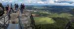Panorama vom Lilienstein nach Westen Richtung Bastei (Sächsische Schweiz)