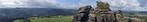 Panorama vom Lilienstein Richtung Süden (Sächsische Schweiz)
