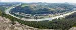 Panorama vom Lilienstein Richtung Südosten (Sächsische Schweiz)