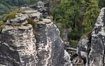 Rathen: Blick von der Bastei auf Felsenburg (Sächsische Schweiz)