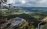 Blick vom Lilienstein Richtung Westen (Sächsische Schweiz)