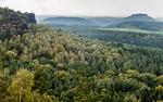 Blick vom Papststein auf Pfaffenstein (Sächsische Schweiz)