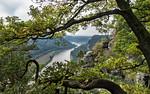 Rathen: Blick von der Bastei nach Westen (Sächsische Schweiz)